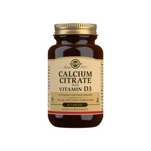 Solgar® Calcium Citrate with Vitamin D3 Tablets